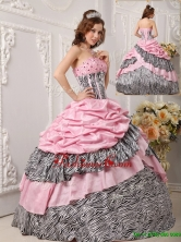 Recommended Ball Gown Strapless Quinceanera Gowns in Multi Color for 2016 QDZY017CFOR