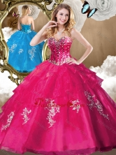 Popular Beading Quinceanera Gowns with Appliques for 2016 SJQDDT480002-2FOR