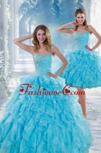 Recommended 2015 Beautiful Blue Sweet 16 Dresses with Beading and Ruffles XFNAO011TZFOR