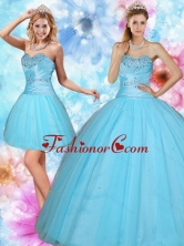 Recommended 2015 Discount Sweetheart Beaded Quinceanera Dress in Baby Blue QDZY735TZFOR