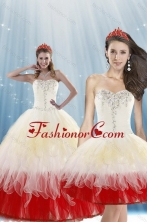 Recommended 2015 Unique Multi Color Quince Dresses with Beading XFNAOA11TZFOR