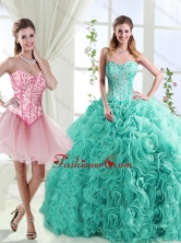 Visible Boning Rolling Flowers Detachable Quinceanera Dresses with BeadingSJQDDT566002AFOR