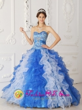 2013 Nuevo Emperador Panama Spring Organza Quinceanera Dress In Beaded Decorate Multi color Style QDZY246FOR