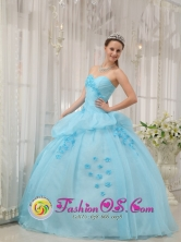 2013 Nuevo Vigia Panama Inexpensive Light Blue Sweethear Sweet 16 Dress For Quinceanera Gown Style QDZY300FOR