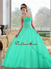 2015 Fashionable Sweetheart Ball Gown Sweet Sixteen Dresses with Appliques QDDTB36002-1FOR
