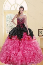 2015 Most Popular Beading and Ruffles Sweet 16 Dresses in Multi Color XFNAOA16TZFXFOR