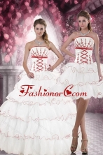 2015 New Arrival Customer Made Quince Dresses with Appliques and Ruffled Layers XFNAO415TZFOR