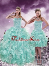 2015 New Arrival Fashionable Beading and Ruffles Aqual Blue Quince Dresses XFNAO5825TZFOR