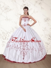 2015 New Arrival Strapless Floor Length Quinceanera Dress in PDZY535TZFXFOR