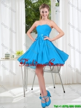 2016 Summer A Line Sweetheart Dama Dress in Baby Blue BMT001B-6FOR