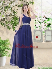 Comfortable One Shoulder Prom Dresses in Navy Blue BMT059AFOR