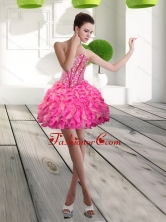 Fashionable Mini Length Sweetheart Beading and Ruffles Prom Dress for 2015 QDDTA66003FOR