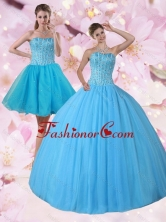 Gorgeous New Arrival Detachable Strapless Quinceanera Dress with Beading PDZY690TZFOR