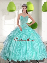 Latest Ball Gown Sweetheart Appliques and Beading Quinceanera Dresses QDDTC37002FOR