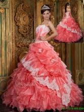 Luxurious Ball Gown Floor Length Ruffles Quinceanera Dresses QDZY018AFOR