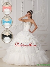 Luxurious White Ball Gown Sweetheart Quinceanera Dresses  QDZY465AFOR