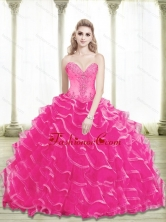 New Arrival Beading and Ruffled Layers Sweetheart Quinceanera Dresses in Hot Pink SJQDDT25002-2FOR