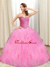 New Arrival Beading and Ruffles Quinceanera Dresses in Multi Color for 2015 SJQDDT11002-1FOR
