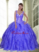 New Arrival Beading and Ruffles Sweet Sixteen Dresses in Lavender for 2015 SJQDDT23002-1FOR