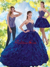 New Arrival Beading and Ruffles Sweetheart Ball Gown Quinceanera Dresses for 2015 QDDTA72001FOR