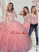 New Arrival Beading and Ruffles Watermelon Quinceanera Dresses SJQDDT29001FOR