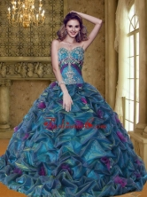New Arrival Colorful Quinceanera Dresses with Appliques and Pick Ups SJQDDT26002FOR