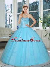New Arrival Cute Aqua Blue Sweetheart Beaded Quinceanera Dress for 2015 QDZY735TZFXFOR