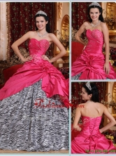 New Arrival Elegant Ball Gown Hot Pink Quinceanera Gowns with Beading  QDZY367CFOR