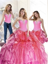 New Arrival Multi Color Quinceanera  Dresses with Beading and Ruffles SJQDDT37001FOR