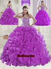 On Sale Sweetheart Beading Quinceanera Dresses with Brush Train XLFY091906B-10FOR