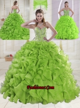 Popular Sweetheart Brush Train Quinceanera Gowns with Beading XLFY091906B-20FOR
