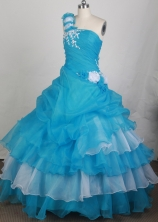 2012 Unique Ball Gown One Shoulder Neck Floor-Length Quinceanera Dresses Style JP42612