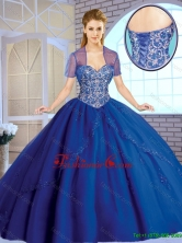 2016 Fall  Classical Beading Sweetheart Quinceanera Gowns in Royal Blue SJQDDT163002B-1FOR