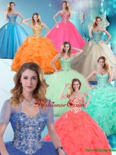 2016 Fashionable Sweetheart Quinceanera Dresses with Beading SJQDDT163002FOR