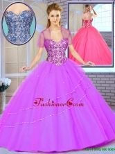 2016 Summer  Popular Ball Gown Beading Sweet 16 Dresses with Sweetheart  SJQDDT163002D-1FOR