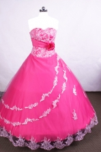 Affordable Ball gown Affordable Floor-length Hot Pink Quinceanera Dresses Style FA-C-067