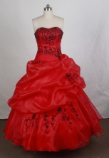 Affordable Ball gown Strapless Floor-length Quinceanera Dresses Style FA-W-r77