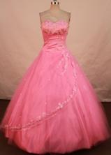 Brand New Ball Gown Sweetheart Floor-length Pink Taffeta Beading Quinceanera dress StyleFA-L-118