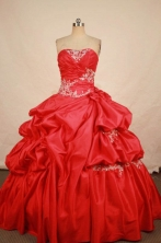 Classical Ball Gown Strapless Floor-length Strapless Taffeta Quinceanera dress Style FA-L-325