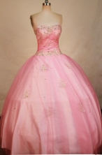 Classical Ball Gown Sweetheart Floor-length Beading Quinceanera dress Style FA-L-305