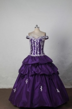 Classical Ball gown Off the shoulder neck Floor-Length Quinceanera Dresses Style FA-Y-219