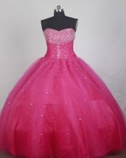 Elegant Ball Gown Strapless Floor-length Hot Pink Quinceanera Dress LZ426028