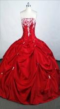 Elegant Ball Gown Strapless Floor-length Taffeta Quinceanera Dresses Style FA-C-048