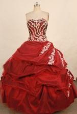 Elegant Ball Gown Sweetheart Floor-length Taffeta Appliques Quinceanera dress Style FA-L-333