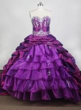 Elegant Ball Gown Sweetheart Neck Floor-length Purple Quinceanera Dress LZ426078