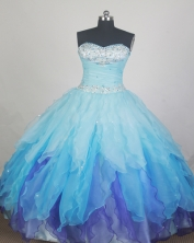Elegant Ball Gown Sweetheart Neck Sweetheart Neck Baby Blue Quinceanera Dress LZ426058