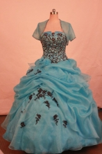 Pretty Ball gown Strapless Floor-Length Quinceanera Dresses Style FA-Y-56