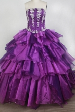 Exclusive Ball Gown Strapless Floor-length Quinceanera Dress LZ426081