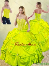 Exclusive Beading and Pick Ups Quinceanera Dresses for Spring SJQDDT185002-5FOR
