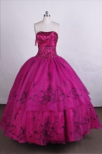 Exquisite Ball Gown Strapless Floor-length Organza Quinceanera Dresses Style FA-C-055